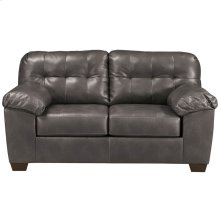 Signature Design by Ashley Alliston Loveseat in Gray Faux Leather