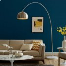 Sunflower Round Marble Base Floor Lamp in White Product Image