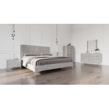 Nova Domus Alexa Italian Modern Grey Bedroom Set