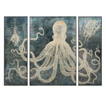 Dorado Tryptych Wall Decors with Frame
