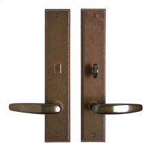 """Stepped Privacy Set - 2 1/2"""" x 13"""" Silicon Bronze Brushed"""