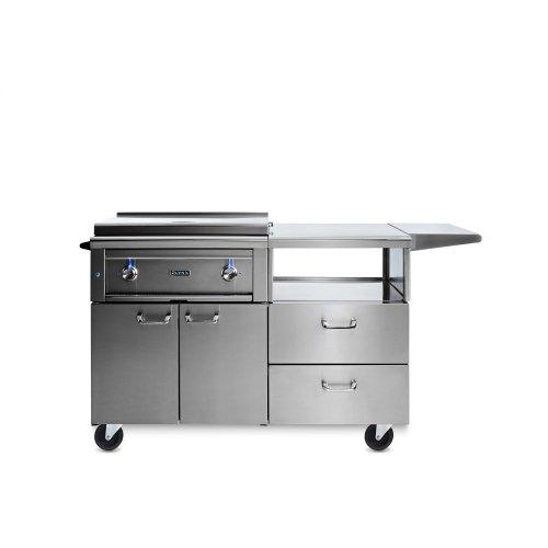 "30"" Asado Grill on Mobile Kitchen Cart NG"