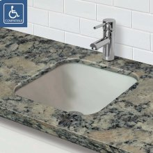 Translucence Square Undermount Glass Sink - Frosted Crystal