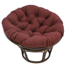 Bali 42-inch Indoor Fabric Rattan Papasan Chair - Walnut/Burgundy
