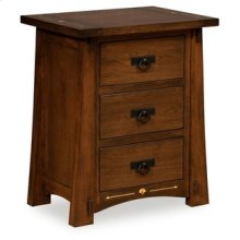 Castlebrook 3 Drawer Nightstand