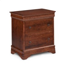 Louis Philippe Deluxe Nightstand with Drawers