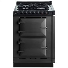 """AGA Module 24"""" Electric/Natural Gas Pewter with Stainless Steel trim"""
