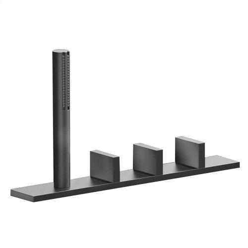 Deck-mount tub filler