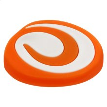 Kids Orange and White Spiral Cabinet Knob