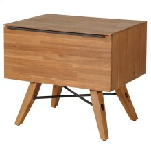 Dartford KD Night Stand/Side Table 1 Drawer, Acorn Brown
