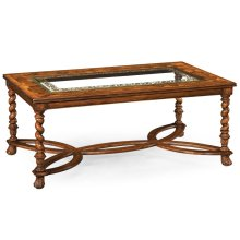 Rectangular oyster & eglomise coffee table
