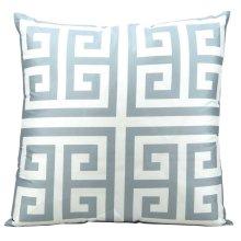 "Outdoor Pillow As047 Grey 20"" X 20"" Throw Pillow"