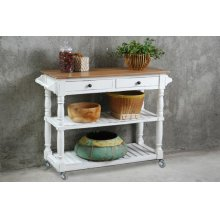 CC-TAB192TLD-WWCFSV  Cottage Kitchen Island with Casters  White Sideboard  Kitchen Cart