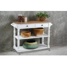 CC-TAB192TLD-WWCFSV  Cottage Kitchen Island with Casters  White Sideboard  Kitchen Cart