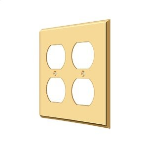 Switch Plate, Quadruple Outlet - PVD Polished Brass