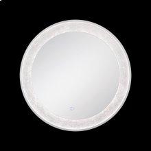 ROUND EDGE-LIT LED MIRROR - Silver