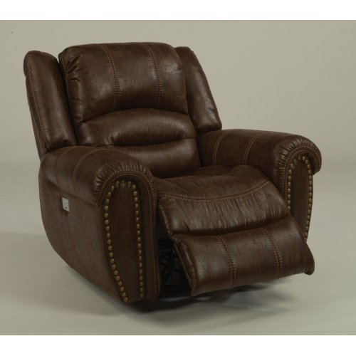 Downtown Fabric Power Recliner with Power Headrest