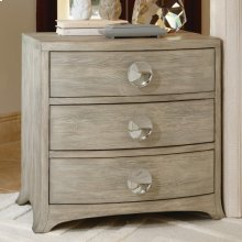 Bow Front Three Drawer Chest-Grey