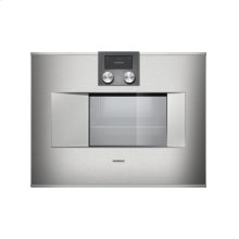 "400 series Combi-steam oven BS 470 610 Stainless steel-backed full glass door Right-hinged Controls at the top Width 24"" (60 cm)"