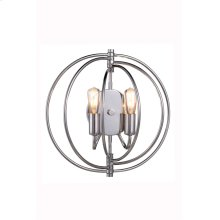 """1453 Vienna Collection Wall Lamp W:13"""" H:13"""" E:6"""" Lt:2 Polished Nickel Finish"""
