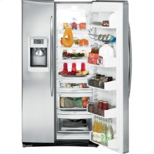 Stainless Steel Side by Side Refrigerator Kitchen Package with Electric Range. (This is a Stock Photo, actual unit (s) appearance may contain cosmetic blemishes. Please call store if you would like actual pictures). This unit carries our 6 month warranty, MANUFACTURER WARRANTY and REBATE NOT VALID with this item.
