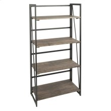 Dakota Bookcase - Black Metal, Wood