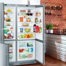 """60"""" Freestanding Side-by-Side Refrigerator & Freezer Premium, NoFrost ~ stainless steel finish"""