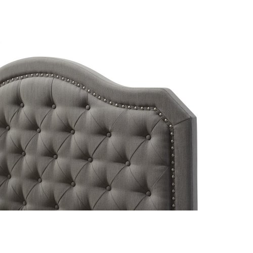 Emerald Home Upholstered King 6/6 Headboard-footboard-siderails Gray #mineral M10144