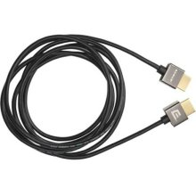 Black 8.2' Super Slim HDMI Cable; Short connector and flexible design