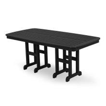 "Black Nautical 37"" x 72"" Dining Table"