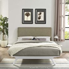 Tracy 3 Piece Full Bedroom Set in White Latte