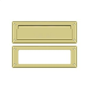 """Mail Slot 8 7/8"""" with Interior Frame - Polished Brass Product Image"""