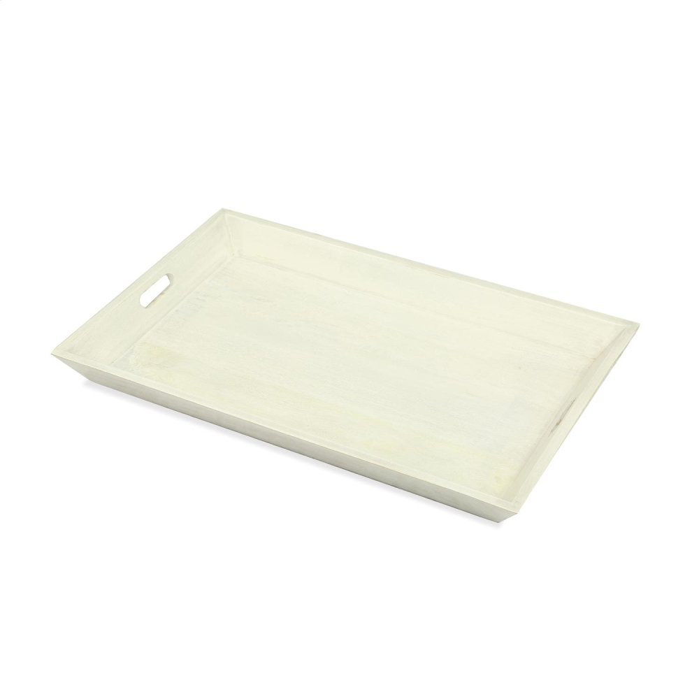 Medium Tray - Swiss White Finish