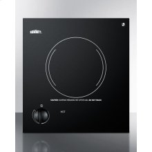 115v Single Burner Cooktop In Black Ceramic Glass, Made In Europe