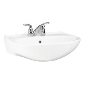 Sacramento® Lavatory Basin, Single-hole faucet drilling - White Product Image