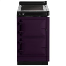 """AGA Hotcupboard 20"""" Induction Aubergine with Stainless Steel trim"""