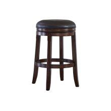 Porter Tall Upholstered Swivel Stool, Rustic Brown