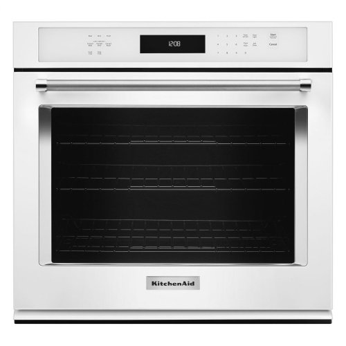 """30"""" Single Wall Oven with Even-Heat™ True Convection - White"""