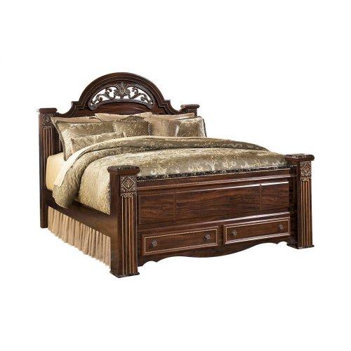 Gabriela - Dark Reddish Brown 4 Piece Bed Set (Queen)