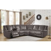 Power Reclining Sectional in Montgomery-Gray Product Image