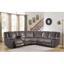 Power Reclining Sectional in Montgomery-Gray