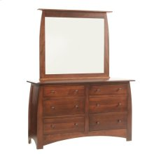 Bordeaux Low Dresser- 1in Bevel Mirror