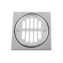 "White - Shower Drain Plate (4 1/4"" Square)"