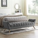 Response Upholstered Fabric Bench in Gray Product Image