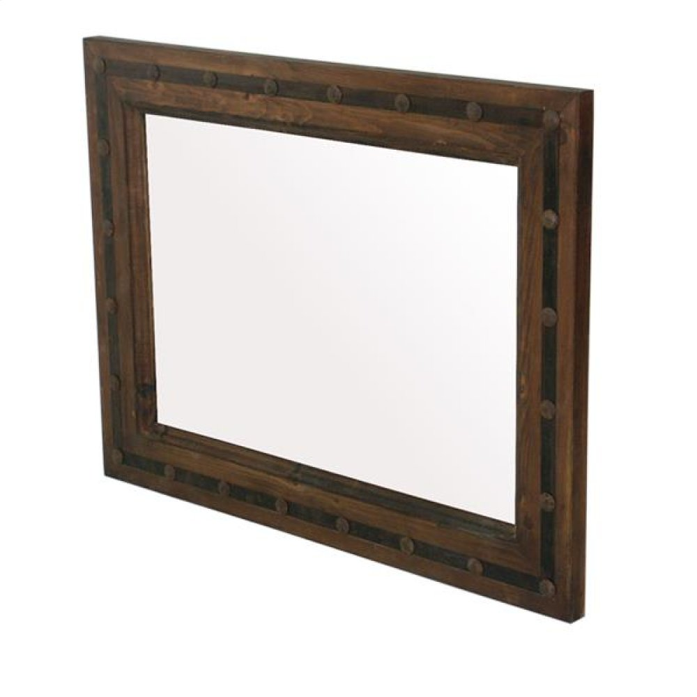 Mirror W/Metal and Conchos