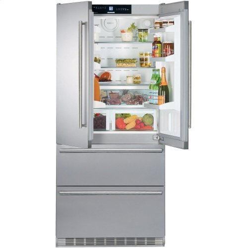 "36"" Freestanding French Door Refrigerator w/ ice maker"