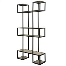 BALTIC BOOKSHELF  Gray Wash Finish on Metal Frame