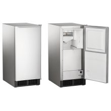 """15"""" Clear Ice Maker - Legacy Cuber, 30lbs, Built-In Pump, Panel-Ready"""