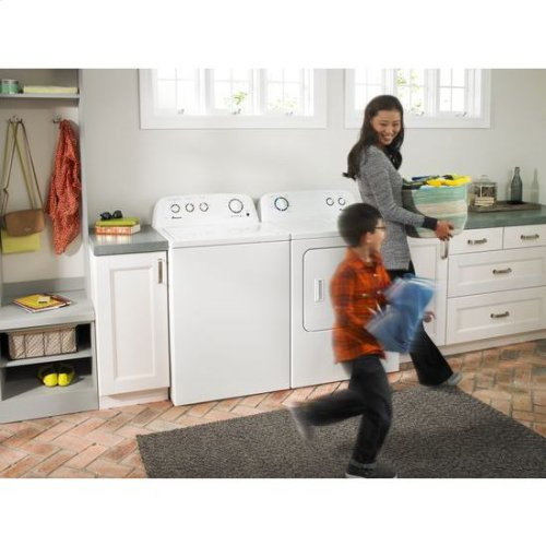 Amana® 7.0 cu. ft. Top-Load Dryer with Interior Drum Light - white