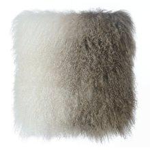 Tibetan Sheep Pillow White to Brown
